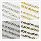 5/100Meters Round Rings 4mm Thickness Chains For Jewelry Making Necklace Craft