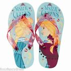 Official Disney FROZEN Girls Flip Flops Sandals ELSA ANNA Sisters Queens Summer