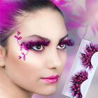 1 Pair Multicolor Long False Feather Spots Eyelashes Makeup Eye Lashes Party