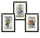 Set of 3 Alice in Wonderland Vintage Dictionary Art Print  Book Page Tea Party