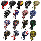Do Du Rag Bandana Motorcycle Caps Biker Skull Tied Head Wrap Band Hats Flag Camo