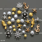 3D Nail Art Decoration Ocean Alloy Jewelry Glitter Rhinestones + Wheel #EB-077