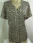 Dana Buchman Womens Plus Size Shirt Top Leopard Print Blouse Size 1X 2X 3X New