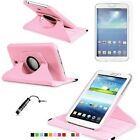 "for Samsung Galaxy Tab 3 7.0 7"" inch Tablet Case 360 Rotating PU Stand Cover SM"