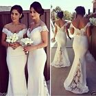 Sexy Ivory/White Bridesmaids Gowns evening dress Custom Size :4 6-8-10-12-14 +++