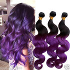 Vogue New 50g/pc High Quality Purple Ombre Body Wave Real Human Hair Extensions