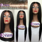 "Queen Soft silk straight India remy human hair lace front wig 12""-24"" free ship"