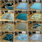 Modern Teal Turquoise Blue Rugs Small Large Soft Thick Thin Mats Cheap Rugs UK