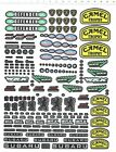 Self Adhesive Sticker decal car logos for different scales model kits 20240