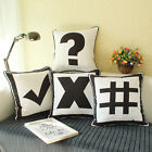 "18"" Maths Operation Symbol Throw Sofa Car Auto Bed Pillow Case Cushion Cover"