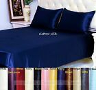 30 Momme 100% Pure Silk X-Deep Fitted & Flat Sheet Set Pillowcase Size King