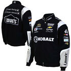 2015 Jimmie Johnson Kobalt Mens Black Twill Authentic Nascar Jacket-JH Design