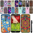 For LG G2 VS980 Verizon Cute Design TPU SILICONE Rubber Case Phone Cover + Pen