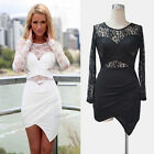 NEW Sexy Women Clubwear Lace Bandage Bodycon Evening Cocktail Party Mini Dress