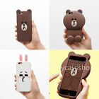 Cute cartoon BROWN BEAR rabbit Rubber soft case cover for iphone X 8 7 6S plus 5