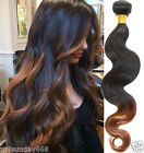 Ombre Brazilian Human Hair 50% Off 3Tone:1B/30# Body Wave Human Hair Extension