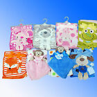 New Super Soft Cuddle Fleece Baby Blanket Comforter *Fast UK Despatch