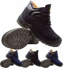 NEW MENS LEATHER SAFETY WORK BOOTS STEEL TOE CAP SHOES TRAINER LADIES HIKER SIZE