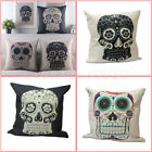 Fashion Cushion Bed Car Sofa Skull Throw Pillow Case Cover Room Home Decoration