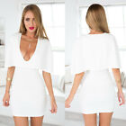Glam Sexy Minidress Gowns Dresses For Night Out Party Cocktail V Neck S M L