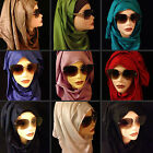 High Quality Cotton And Silk Blend Rhinestones Long Hijab, Scarf, Womens Shawl