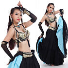 New Tribal Style Belly Dance Costume Outfit 2 Pics Set of Bra&Belt 32-34A/B/C