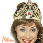 Adult Queens Crown Jewelled Assorted Silver And Gold Fancy Dress Accessory New