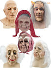 Adult Mens Grumpy Old Man Mask Wrinkled Realistic Fancy Dress Halloween Stag