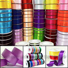 Quality Reels of Satin Ribbon Roll Long Lengths & Width 6,10,15, 25 & 38mm