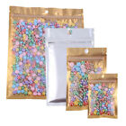 Variety of Sizes for 100 PCS Flat Clear/Gold/Silver QuickQlick™Bags w/ Hang Hole