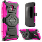 Alcatel OneTouch Conquest Case, Rugged Holster w/ Kickstand & Belt Clip (7046T)