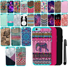 For Apple iPhone 6 4.7 inch PATTERN HYBRID Rubber HARD Case Phone Cover + Pen