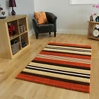 New Hand Carved Terracotta Striped Runner Rug Small Large Living Room Carpet Rug
