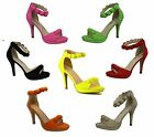 NEW WOMENS LADIES PARTY EVENING CELEB STYLE BOBBLE SANDALS FAUX SUEDE SHOES