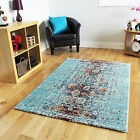 New Modern Art Deco Turquoise Blue Rugs Funky Easy Clean Living Room Mat Online