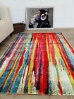 New Multi Coloured Artistic Design Rugs Soft Touch Quality Living Room Rug Cheap