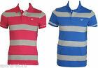 Mens N.Y.C Vintage Heritage Division Mens Womens Striped Polo Tops All Sizes