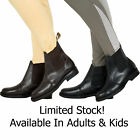 ADULTS & KIDS EQUI LEATHER PLAIN HORSE RIDING PADDOCK JOD JODHPUR BOOTS ALL SIZE