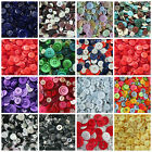 37 SHADES OF MIXED ASSORTED  BUTTONS  75g, 100g, 150g, 300g and 500g  JOBLOT