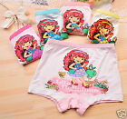 Lots Strawberry Modal Boxer Briefs Underwear Underpants for Girls Kids Age: 2-10