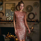 Avon Body Illusions Rose Gold Sequin Dress ~ Choose Your Size ~ New