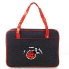 KIDS Girl DENIM Black & Red LAEDEE Bug PURSE Style BIBLE Case COVER ~ Small