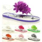 WOMENS JELLY JELLIES LADIES FLAT FLIP FLOP SANDALS SIZE