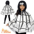 Child Spider Cape Costume Kids Creepy Halloween Fancy Dress Girls Boys Outfit