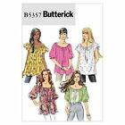 Butterick 5357 Gathered Top Sewing Pattern Off Shoulder Sizes 4-26 B5357 5 in 1