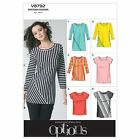 Vogue 8792 Easy Options Tunic Top T-Shirt Sewing Pattern UK4-18 V8792 6 in 1!
