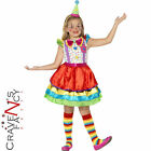 Deluxe Girls Clown Kids Fancy Dress Costume with Hat Book Week Circus Coco