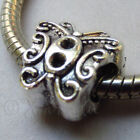 Butterfly Wholesale Silver Plated European Large Hole Beads B0598 - 5PCs, 10PCs