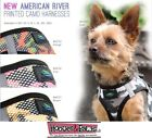 American River CAMO Ultra Choke Free Step In Dog Harness Washable Fabric