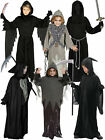 Age 4 - 14 Kids Grim Reaper Costume Boys Childrens Horror Halloween Fancy Dress